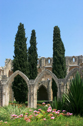 The Bellapais Abbey (the abbey of peace) in occupied Kyrenia